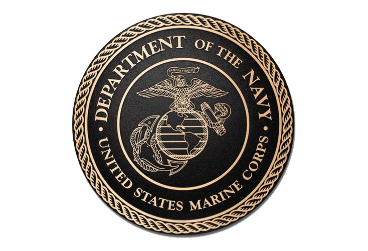 Cast Bronze Plaque with Military Seal