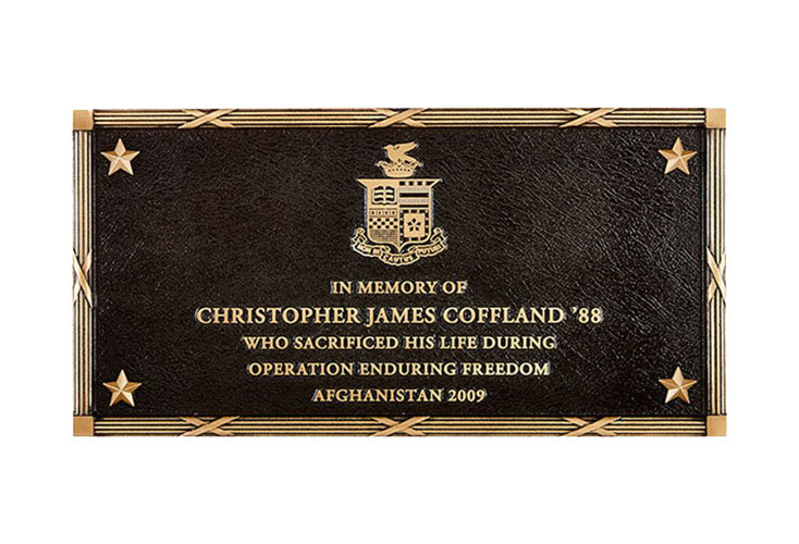 Cast Bronze Plaque with Custom Sculpted Border