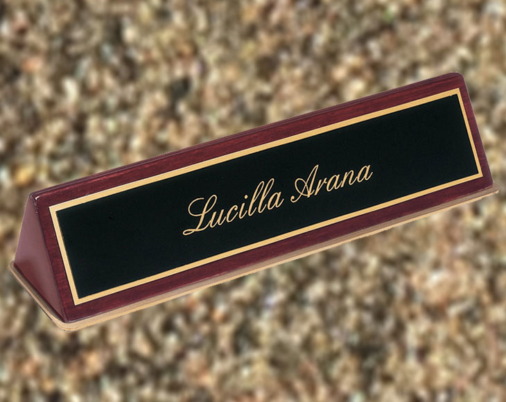 Laser Engraving Sample - Nameplate