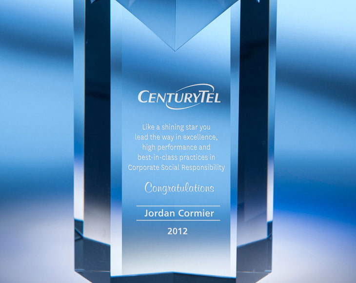 Sandcarving Sample - Crystal Award