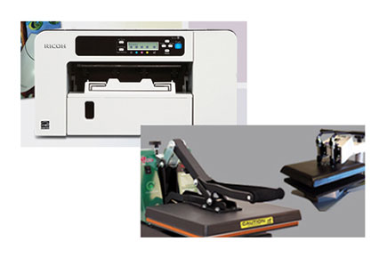 Ricoh Digital Ink Jet Printer & Heat Press