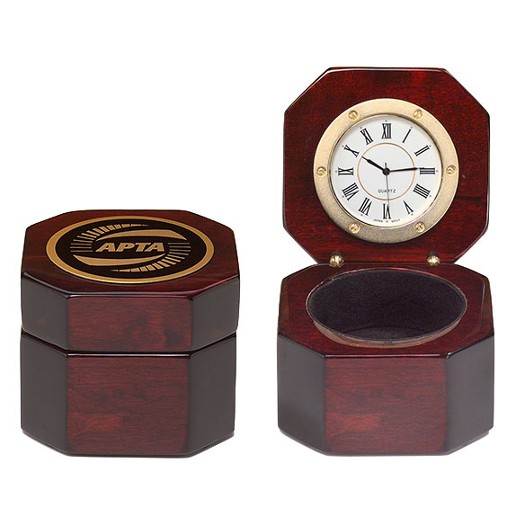 Rosewood Clock With Storage Area