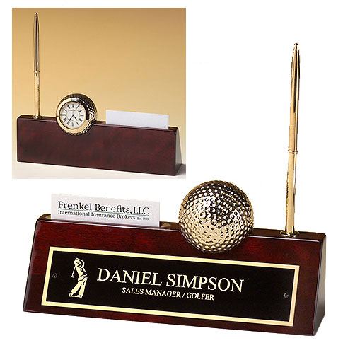 Golf Clock Nameplate and Pen