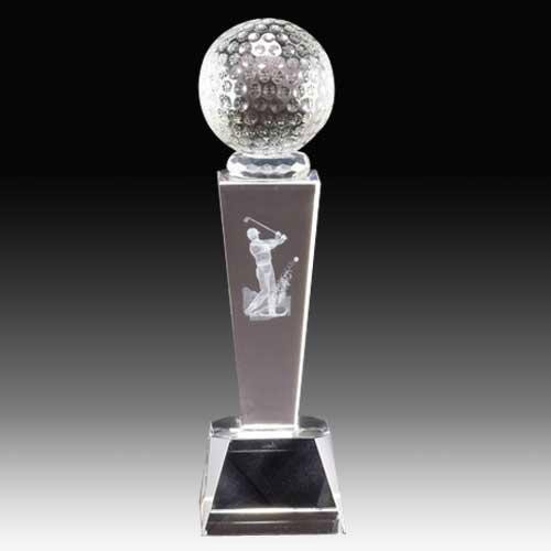 Tapered Pedestal Award with Golfer