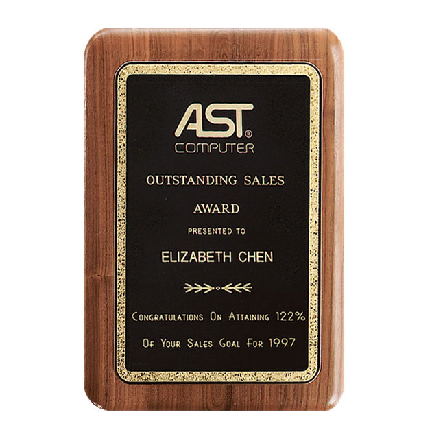 American Walnut Gold Florentine Plaque