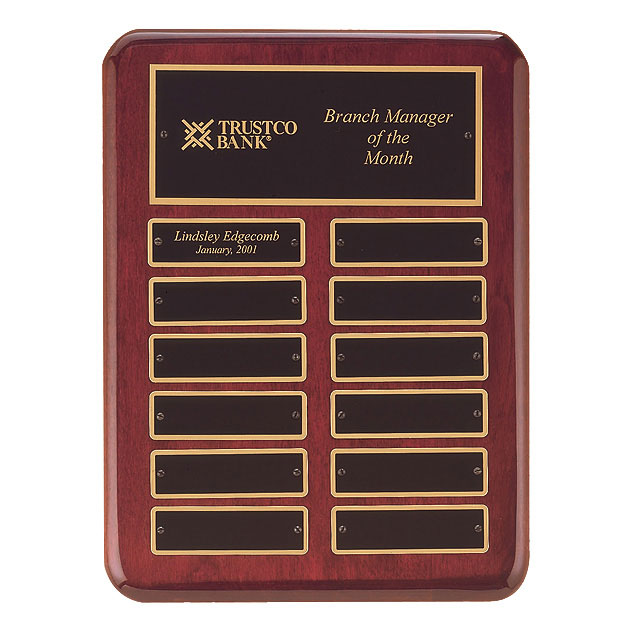 Rosewood Perpetual Plaque - 12 Plates