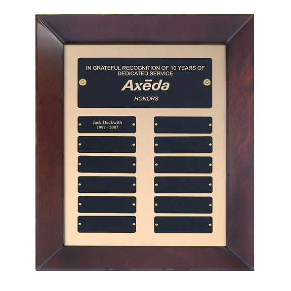 Cherry Perpetual  Frame Plaque - 12 Plates